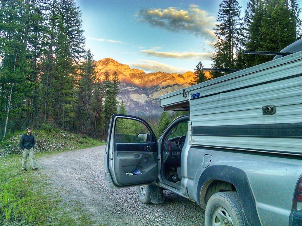 Hiking Basecamp in a Pop Up Truck Camper | Four Wheel Campers