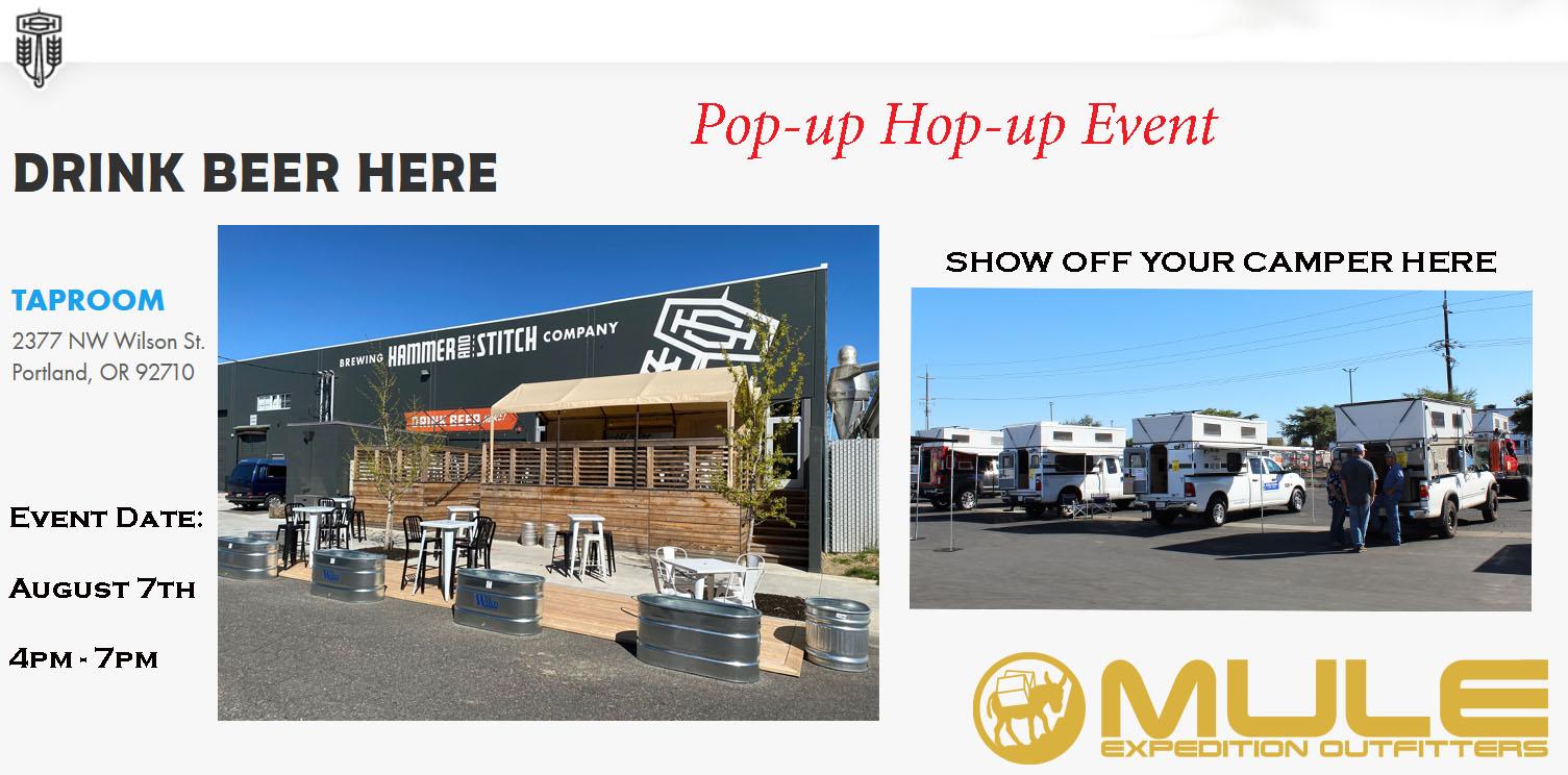 Pop-up  Hop-up  Event  (Hammer & Stitch Brewery, Portland)