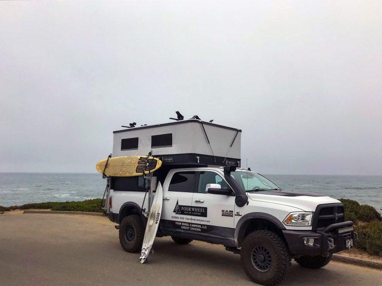 PopUp Four Wheel Camper w Surf Boards