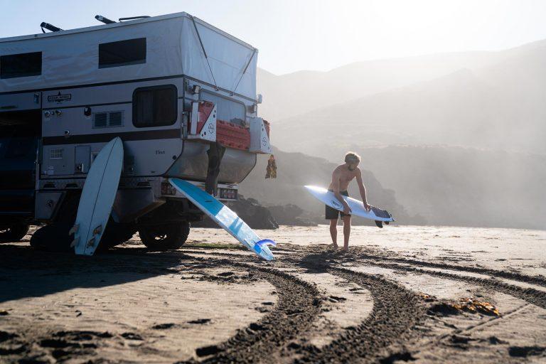 Surfs Up w PopUp Four Wheel Camper