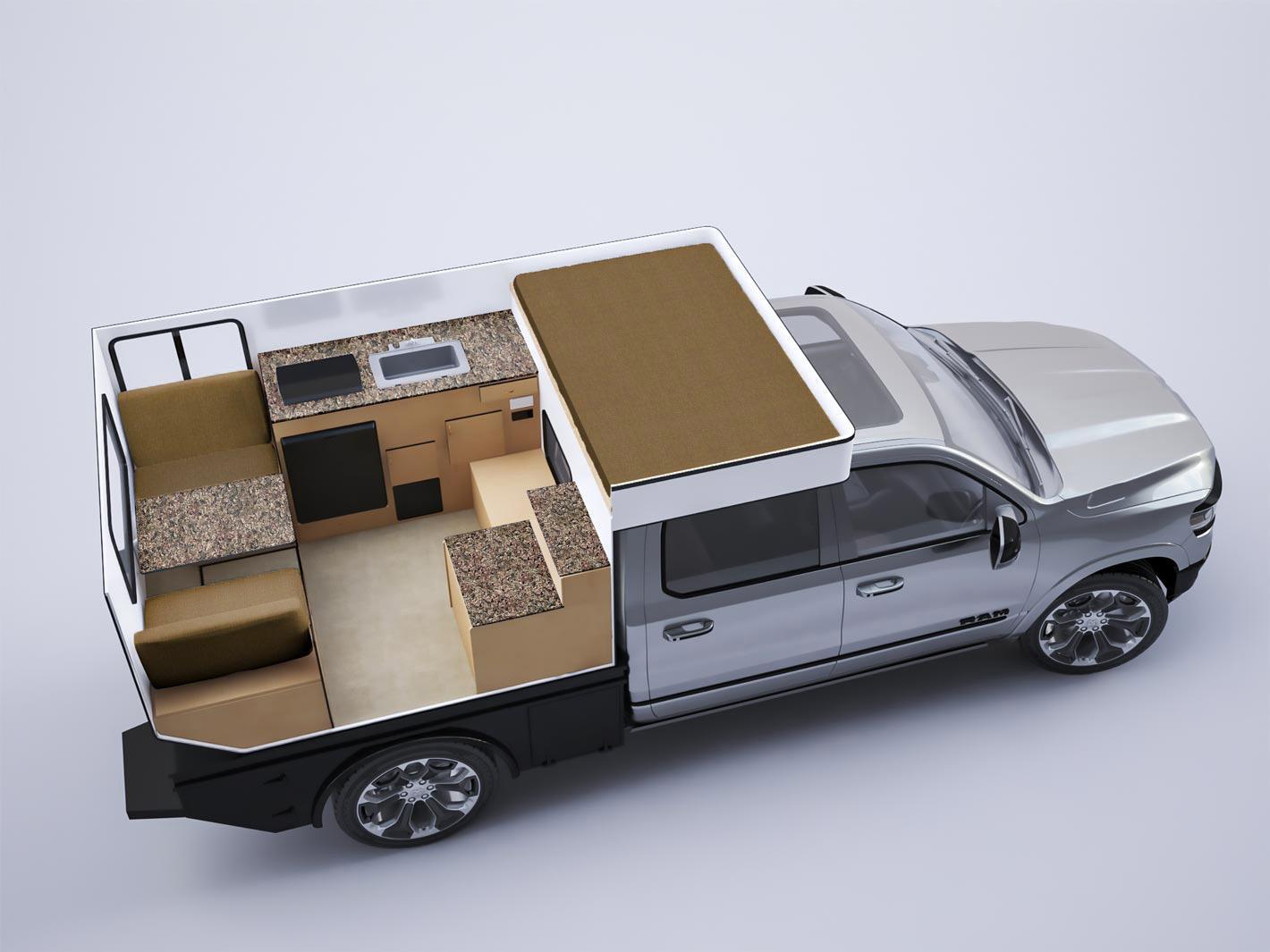 Fleet Flat Bed Model Four Wheel Campers