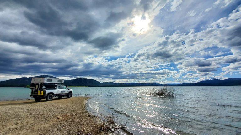 High Sierra Adventure in a Four Wheel Pop-Up Truck Camper – Savage Camper
