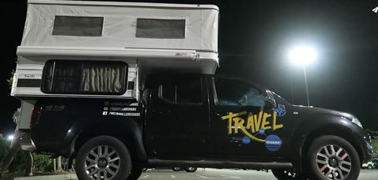 "Four Wheel Pop-up Truck Camper (Swift Model) ""TravelandShare"" Romulo & Mirella"